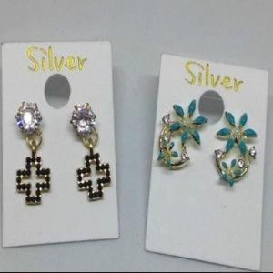 Rhinestone Cross Stud Earrings Jewelry 1087